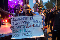 Kurds and anti fascists take to the streets of Hamburg for a 'Shoulder to Shoulder against Fascism ' protest against the persecution of Kurds by fascists and Islamic State and the role of German foriegn policy. 11-9-15