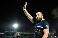 Tom Dunn of Bath Rugby waves to supporters in the crowd after the match. European Rugby Champions Cup match, between Bath Rugby and RC Toulon on December 16, 2017 at the Recreation Ground in Bath, England. Photo by: Patrick Khachfe / Onside Images