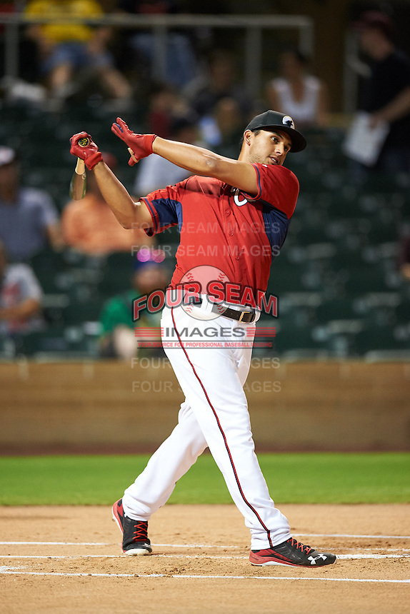 Glendale Desert Dogs Drew Ward (17), of the Washington Nationals organization, during the Bowman Hitting Challenge on October 8, 2016 at the Salt River Fields at Talking Stick in Scottsdale, Arizona.  (Mike Janes/Four Seam Images)