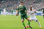 15.04.2018, Weser Stadion, Bremen, GER, 1.FBL, Werder Bremen vs RB Leibzig, im Bild<br /> <br /> <br /> Thomas Delaney (Werder Bremen #6)<br /> Terrence Boyd (RB Leipzig #18)<br /> Foto &copy; nordphoto / Kokenge