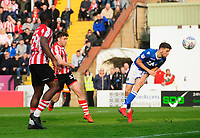 Lincoln City's Shay McCartan can't convert a late opportunity<br /> <br /> Photographer Chris Vaughan/CameraSport<br /> <br /> The EFL Sky Bet League Two - Lincoln City v Macclesfield Town - Saturday 30th March 2019 - Sincil Bank - Lincoln<br /> <br /> World Copyright © 2019 CameraSport. All rights reserved. 43 Linden Ave. Countesthorpe. Leicester. England. LE8 5PG - Tel: +44 (0) 116 277 4147 - admin@camerasport.com - www.camerasport.com