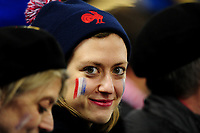 A French fan during the Guinness Six Nations Championship Round 3 match between Wales and France at the Principality Stadium in Cardiff, Wales, UK. Saturday 22 February 2020