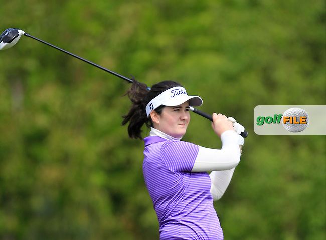 Paula Grant (Lisburn) on the 7th tee during Round 1 of the Irish Women's Open Strokeplay Championship at Dun Laoghaire Golf Club on Saturday 23rd May 2015.<br /> Picture:  Thos Caffrey / www.golffile.ie