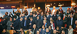 28.11.2019: Feyenoord v Rangers: Rangers board checking out the pyro display