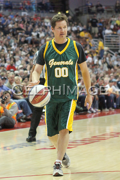MURPHY KARGES. Celebrities attend a basketball game featuring the Harlem Globetrotters at the Honda Center, Anaheim, CA, USA. February 13, 2010. .