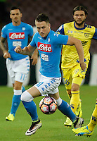 Piotr Zielinski <br />  during the  italian serie a soccer match,between SSC Napoli and AC Chievo       at  the San  Paolo   stadium in Naples  Italy , September 25, 2016