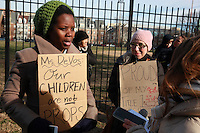 170210 Anti-DeVos Protest at Jefferson Academy Washington DC