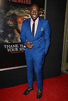 Omar J. Dorsey at the premiere for &quot;Thank You For Your Service&quot; at the Regal LA Live Theatre. Los Angeles, USA 23 October  2017<br /> Picture: Paul Smith/Featureflash/SilverHub 0208 004 5359 sales@silverhubmedia.com