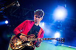 © Joel Goodman - 07973 332324 . 06/06/2015. Manchester , UK . ALEX ROBERTSHAW . Everything Everything perform on the Big Top stage at The Parklife 2015 music festival in Heaton Park , Manchester . Photo credit : Joel Goodman