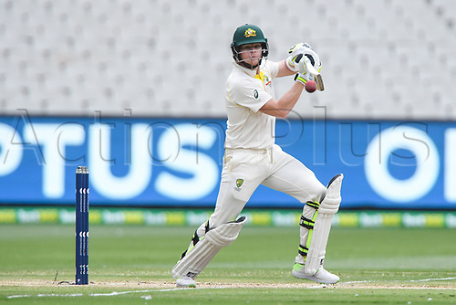 30th December 2017, Melbourne Cricket Ground, Melbourne, Australia; The Ashes Series, fourth test, day 5, Australia versus England; Steve Smith of Australia cuts the ball through the off side