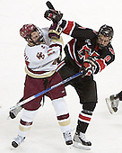 Benn Ferreiro, Jacques Perreault - The Boston College Eagles defeated Northeastern University Huskies 5-3 on Saturday, November 19, 2005, at Kelley Rink in Conte Forum at Chestnut Hill, MA.