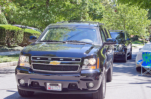 Two vehicles, one perhaps with former United States Secretary of State Hillary Clinton aboard, returns to the Clinton residence in Washington, DC on Saturday, July 2, 2016.  It is believed the former Secretary was questioned by the FBI today in relation to her personal e-mail server that is the center of controversy.<br /> Credit: Ron Sachs / CNP<br /> (RESTRICTION: NO New York or New Jersey Newspapers or newspapers within a 75 mile radius of New York City)