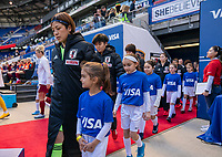 HARRISON, NJ - MARCH 08: Sakiko Ikeda #1 of Japan walks onto the field during a game between England and Japan at Red Bull Arena on March 08, 2020 in Harrison, New Jersey.