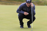 Ryan Fox (NZL) on the 13th green during Thursday's Round 1 of the 2018 Dubai Duty Free Irish Open, held at Ballyliffin Golf Club, Ireland. 5th July 2018.<br /> Picture: Eoin Clarke | Golffile<br /> <br /> <br /> All photos usage must carry mandatory copyright credit (&copy; Golffile | Eoin Clarke)
