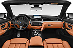 Stock photo of straight dashboard view of a 2018 BMW M4 Base 2 Door Convertible