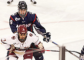 Margaret Zimmer (UConn - 19), Kristyn Capizzano (BC - 7) - The Boston College Eagles defeated the visiting UConn Huskies 4-0 on Friday, October 30, 2015, at Kelley Rink in Conte Forum in Chestnut Hill, Massachusetts.