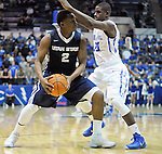 February 28, 2015 - Colorado Springs, Colorado, U.S. -  Utah State guard, Darius Perkins #2, works against Falcon guard, Trevor Lyons #20, during an NCAA basketball game between the Utah State Aggies and the Air Force Academy Falcons at Clune Arena, U.S. Air Force Academy, Colorado Springs, Colorado.   Utah State defeats Air Force 74-60.