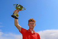 Eoin Prendergast (Claremorris) winner of the U18's Final during the Connacht U12, U14, U16, U18 Close Finals 2019 in Mountbellew Golf Club, Mountbellew, Co. Galway on Monday 12th August 2019.<br /> <br /> Picture:  Thos Caffrey / www.golffile.ie<br /> <br /> All photos usage must carry mandatory copyright credit (© Golffile | Thos Caffrey)