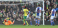 Norwich City's Cameron Jerome watches on as his effort deflects in to make it 2-2<br /> <br /> Photographer David Shipman/CameraSport<br /> <br /> The EFL Sky Bet Championship - Norwich City v Blackburn Rovers - Saturday 11th March 2017 - Carrow Road - Norwich<br /> <br /> World Copyright &copy; 2017 CameraSport. All rights reserved. 43 Linden Ave. Countesthorpe. Leicester. England. LE8 5PG - Tel: +44 (0) 116 277 4147 - admin@camerasport.com - www.camerasport.com