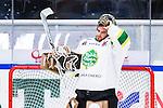 S&ouml;dert&auml;lje 2014-09-22 Ishockey Hockeyallsvenskan S&ouml;dert&auml;lje SK - IF Bj&ouml;rkl&ouml;ven :  <br /> Bj&ouml;rkl&ouml;vens m&aring;lvakt Kevin Lindskoug ser fundersam ut<br /> (Foto: Kenta J&ouml;nsson) Nyckelord: Axa Sports Center Hockey Ishockey S&ouml;dert&auml;lje SK SSK Bj&ouml;rkl&ouml;ven L&ouml;ven IFB portr&auml;tt portrait fundersam fundera t&auml;nka analysera