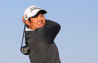 Byeong Hun An (KOR) on the 11th tee during Round 2 of the 2015 Alfred Dunhill Links Championship at Kingsbarns in Scotland on 2/10/15.<br /> Picture: Thos Caffrey | Golffile