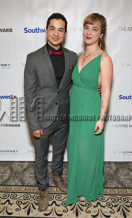 Ty Defoe and Kate Freer during a reception for Theatre Forward's Chairman's Awards Gala at the Pierre Hotel on April 8, 2019 in New York City.