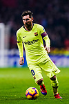 Lionel Messi of FC Barcelona runs with the ball during the La Liga 2018-19 match between Atletico Madrid and FC Barcelona at Wanda Metropolitano on November 24 2018 in Madrid, Spain. Photo by Diego Souto / Power Sport Images