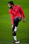 Alvaro Negredo of Valencia - UEFA Champions League -  pre match Training Session - Valencia CF vs Lyon  - Paterna Training Ground - Valencia - Spain - 7th December 2015 - Pic David Aliaga/Sportimage
