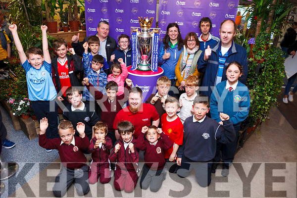 A crowd gather to see the Premier League Cup arrive in the SuperValu store in Tralee on Wednesday afternoon.