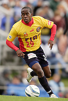 Thiago of the Fire. The MetroStars defeated the Chicago Fire 2-0 during the inaugural Hall of Fame game on Monday October 11, 2004 at At-A-Glance Field at the National Soccer Hall of Fame and Museum, Oneonta, NY..