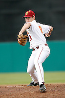 Shawen Olsen of the USC Trojans during a game against the Tulane Green Wave at Dedeaux Field on February 25, 2007 in Los Angeles, California. (Larry Goren/Four Seam Images)
