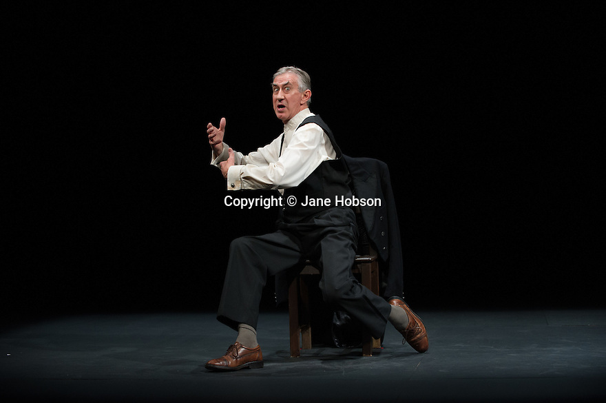 Edinburgh, UK.10.08.2012. Gate Theatre Dublin presents WATT, with texts selected from Samuel Becket's novel by Barry McGovern, as part of the Edinburgh International Festival. Picture shows: Barry McGovern. Photo credit: Jane Hobson.