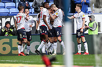 Bolton Wanderers' Pawel Olkowski celebrates scoring his side's first goal with his team mates<br /> <br /> Photographer Andrew Kearns/CameraSport<br /> <br /> The EFL Sky Bet Championship - Bolton Wanderers v Millwall - Saturday 9th March 2019 - University of Bolton Stadium - Bolton <br /> <br /> World Copyright © 2019 CameraSport. All rights reserved. 43 Linden Ave. Countesthorpe. Leicester. England. LE8 5PG - Tel: +44 (0) 116 277 4147 - admin@camerasport.com - www.camerasport.com