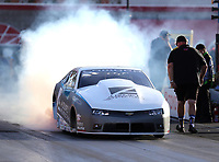Oct 29, 2016; Las Vegas, NV, USA; NHRA pro stock driver Shane Tucker during qualifying for the Toyota Nationals at The Strip at Las Vegas Motor Speedway. Mandatory Credit: Mark J. Rebilas-USA TODAY Sports