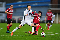 Liam Cullen of Swansea City u23s' in action during the Premier League 2 Division Two match between Swansea City u23s and Middlesbrough u23s at Swansea City AFC Training Academy  in Swansea, Wales, UK. Monday 13 January 2020.