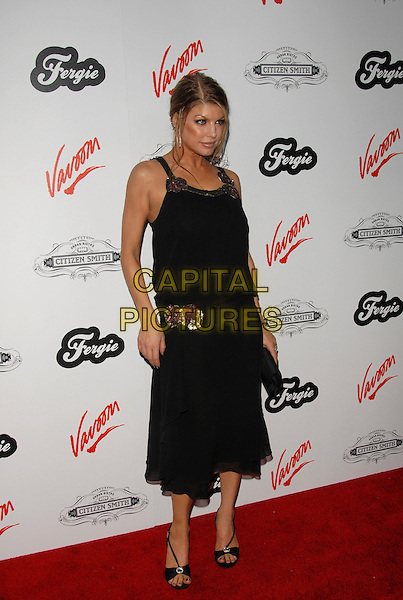 FERGIE - STACEY FERGUSON.Fergie's Birthday Party at Citizen Smith Nightclub in Hollywood, California, USA. .March 28th, 2006.Ref: DVS.Black Eyed Peas full length black dress.www.capitalpictures.com.sales@capitalpictures.com.Supplied By Capital PIctures