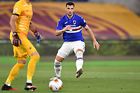 Federico Bonazzoli of UC Sampdoria in action during the Serie A football match between AS Roma and UC Sampdoria at Olimpico stadium in Rome ( Italy ), June 24th, 2020. Play resumes behind closed doors following the outbreak of the coronavirus disease. AS Roma won 2-1 over UC Sampdoria. <br /> Photo Andrea Staccioli / Insidefoto