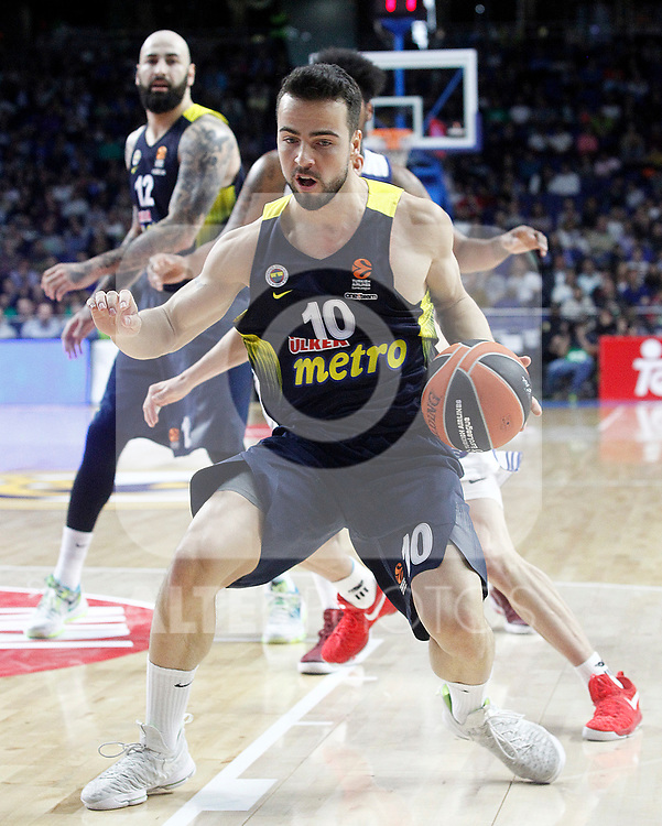 Fenerbahce Istambul's Melih Mahmutoglu during Euroleague, Regular Season, Round 29 match. March 31, 2017. (ALTERPHOTOS/Acero)