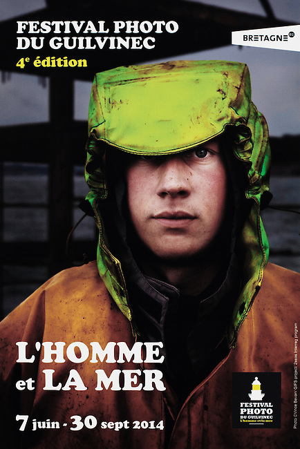 Poster for the 'L'HOMME et LA MER' PHOTO FESTIVAL.<br />