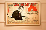 First world war USA American propaganda poster, 'Saving Daylight'