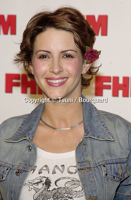 Michelle Clunie arriving at The magazine FHM salutes the 100 sexist women of the world at La Boheme cafe in Los Angeles 5/17/2001  ClunieMichelle02.jpg
