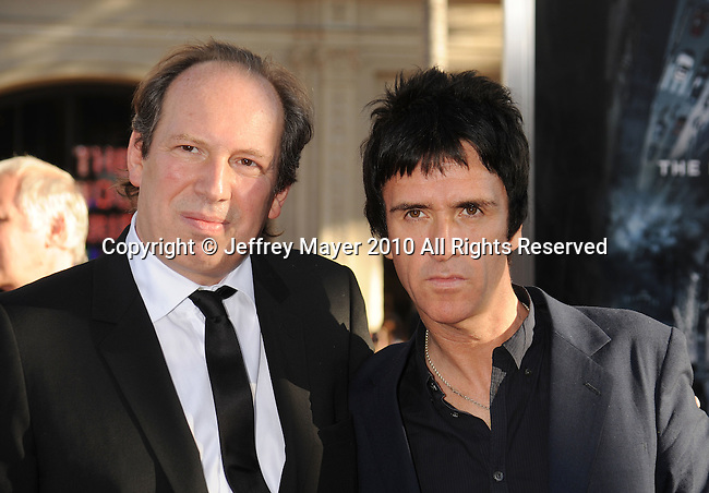 "HOLLYWOOD, CA. - July 13: Hans Zimmer and Johnny Marr arrive to the ""Inception"" Los Angeles Premiere at Grauman's Chinese Theatre on July 13, 2010 in Hollywood, California."