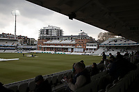 Rain and light stopped play at Lords during Middlesex CCC vs Lancashire CCC, Specsavers County Championship Division 2 Cricket at Lord's Cricket Ground on 13th April 2019