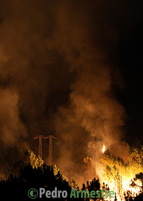 Incendio forestal en Cambroncino, provincia de caceres, July 28, 2009. (C) Pedro Armestre