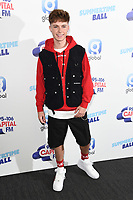 LONDON, UK. June 08, 2019: HRVY poses on the media line before performing at the Summertime Ball 2019 at Wembley Arena, London<br /> Picture: Steve Vas/Featureflash
