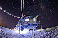 BNPS.co.uk (01202 558833).Pic: SamBurrell/BNPS..***Please use full byline***..It looks like a spaceship from the Star Wars universe which has crash landed on a frozen planet far far away...But this futuristic-looking facility on skis is actually the 25.million pounds future of cutting-edge British research in Antarctica...It is the world's first re-relocatable research centre designed specifically to be moved around to avoid being buried under snow like other stations in the unforgiving region...The Halley VI Antarctic Research Station, designed by British firm Hugh Broughton Architects, officially opened this week and scientists will use it to study Ozone depletion, sea-level rise and climate change and weather.