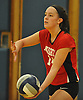 Grace Brandt #14 of Floral Park serves during the Nassau County varsity girls volleyball Class A semifinals against South Side at Massapequa High School on Monday, Nov. 7, 2016. Floral won 3-2.