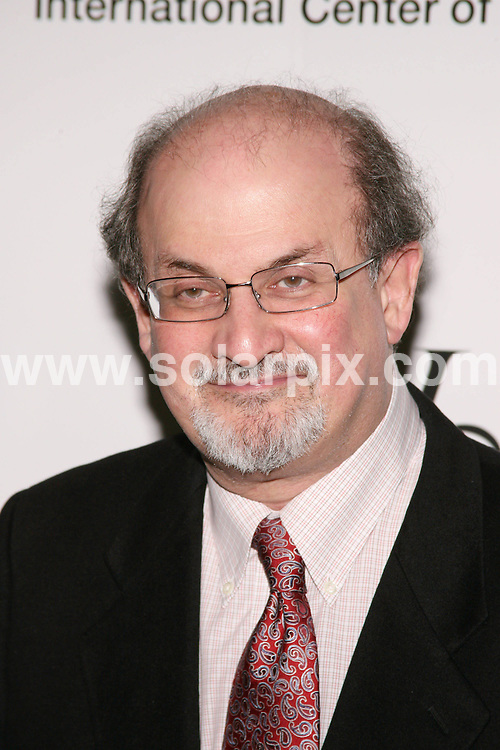**ALL ROUND PICTURES FROM SOLARPIX.COM**.**SYNDICATION RIGHTS FOR UK, SPAIN, PORTUGAL, AUSTRALIA, S.AFRICA & DUBAI (U.A.E) ONLY**.The International Center of Photography 24th Annual Infinity Awards at  Pier Sixty at the Chelsea Piers in New York in the USA.   .This pic:Salman Rushdie.JOB REF:6383-PHZ/Sylvain Gaboury  DATE:12_05_08 .**MUST CREDIT SOLARPIX.COM OR DOUBLE FEE WILL BE CHARGED* *UNDER NO CIRCUMSTANCES IS THIS IMAGE TO BE REPRODUCED FOR ANY ONLINE EDITION WITHOUT PRIOR PERMISSION*
