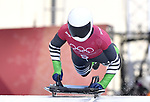 Simidele Adeagbo (NGR). Skeleton training. Alpensia sliding centrePyeongchang2018 winter Olympics. Alpensia. Republic of Korea. 13/02/2018. ~ MANDATORY CREDIT Garry Bowden/SIPPA - NO UNAUTHORISED USE - +44 7837 394578