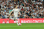 Real Madrid's Luka Modric during La Liga match between Real Madrid and Atletico de Madrid at Santiago Bernabeu Stadium in Madrid, Spain. September 29, 2018. (ALTERPHOTOS/A. Perez Meca)